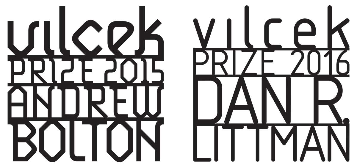 The Making of a Vilcek Prize: Typography and Typeface for 2015 and 2016.