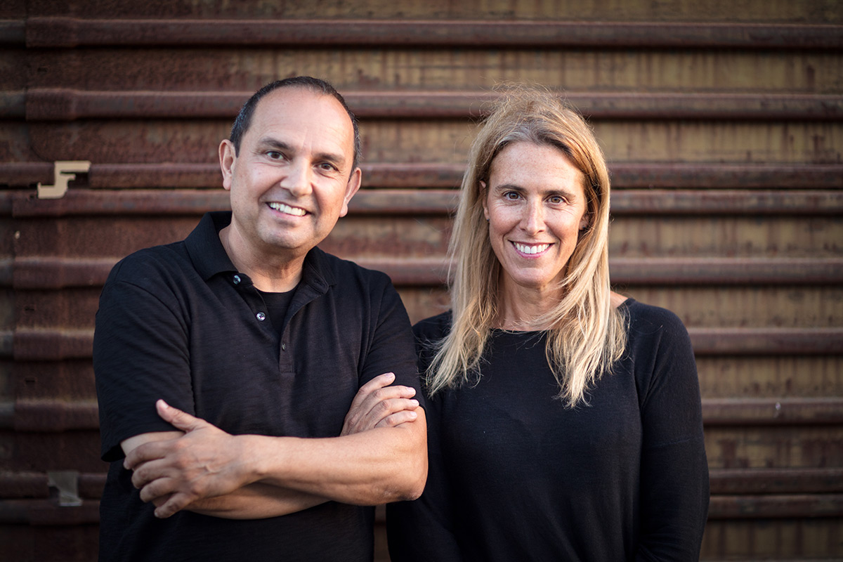 Teddy Cruz and partner Fonna Forman at the US-Mexico border.
