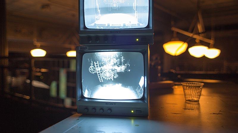 Yi Zhao designed the lighting for Soho Rep's FUTURITY in New York City.