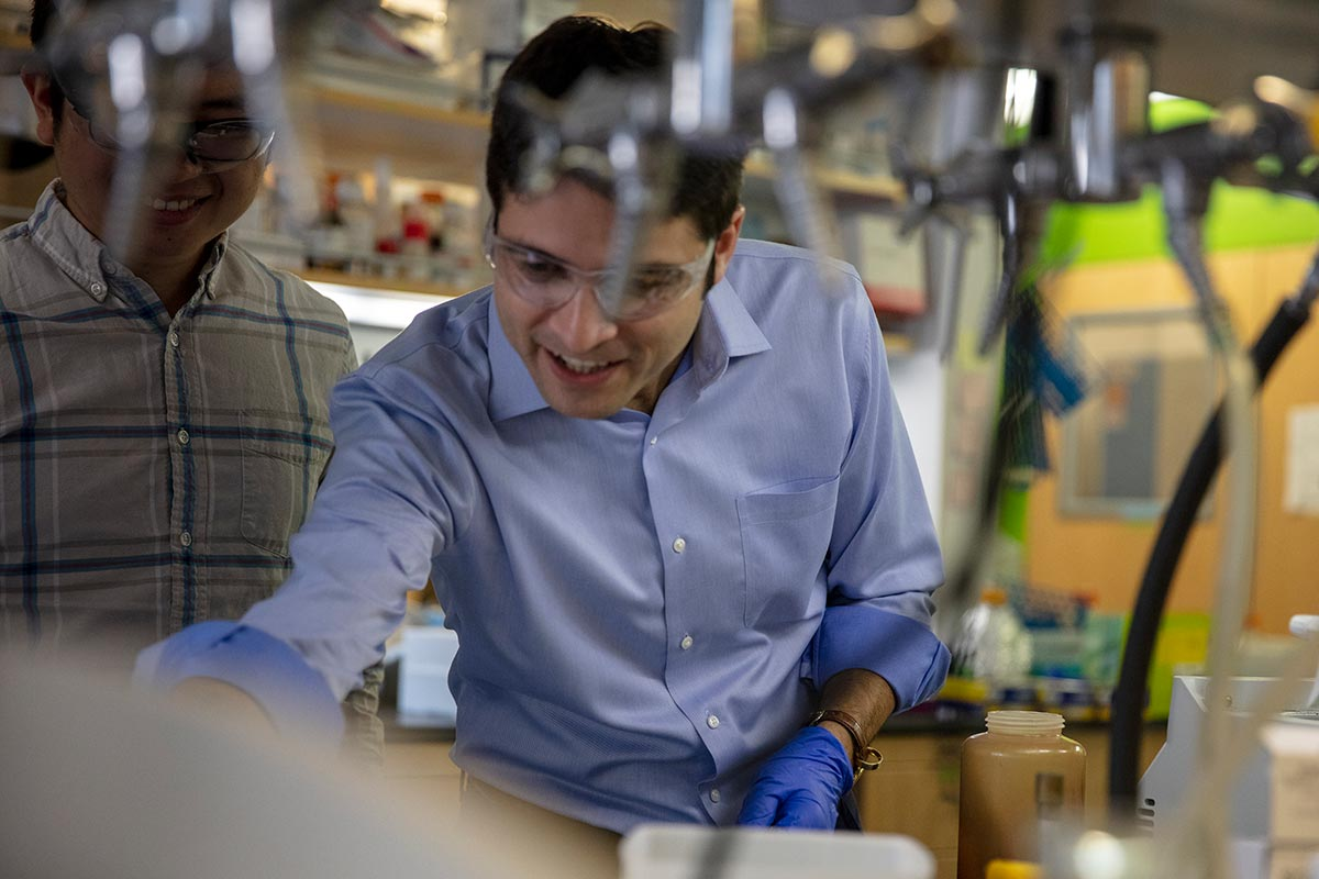 2019 Creative Promise Prizewinner Mikhail G. Shapiro in his lab Cal Tech