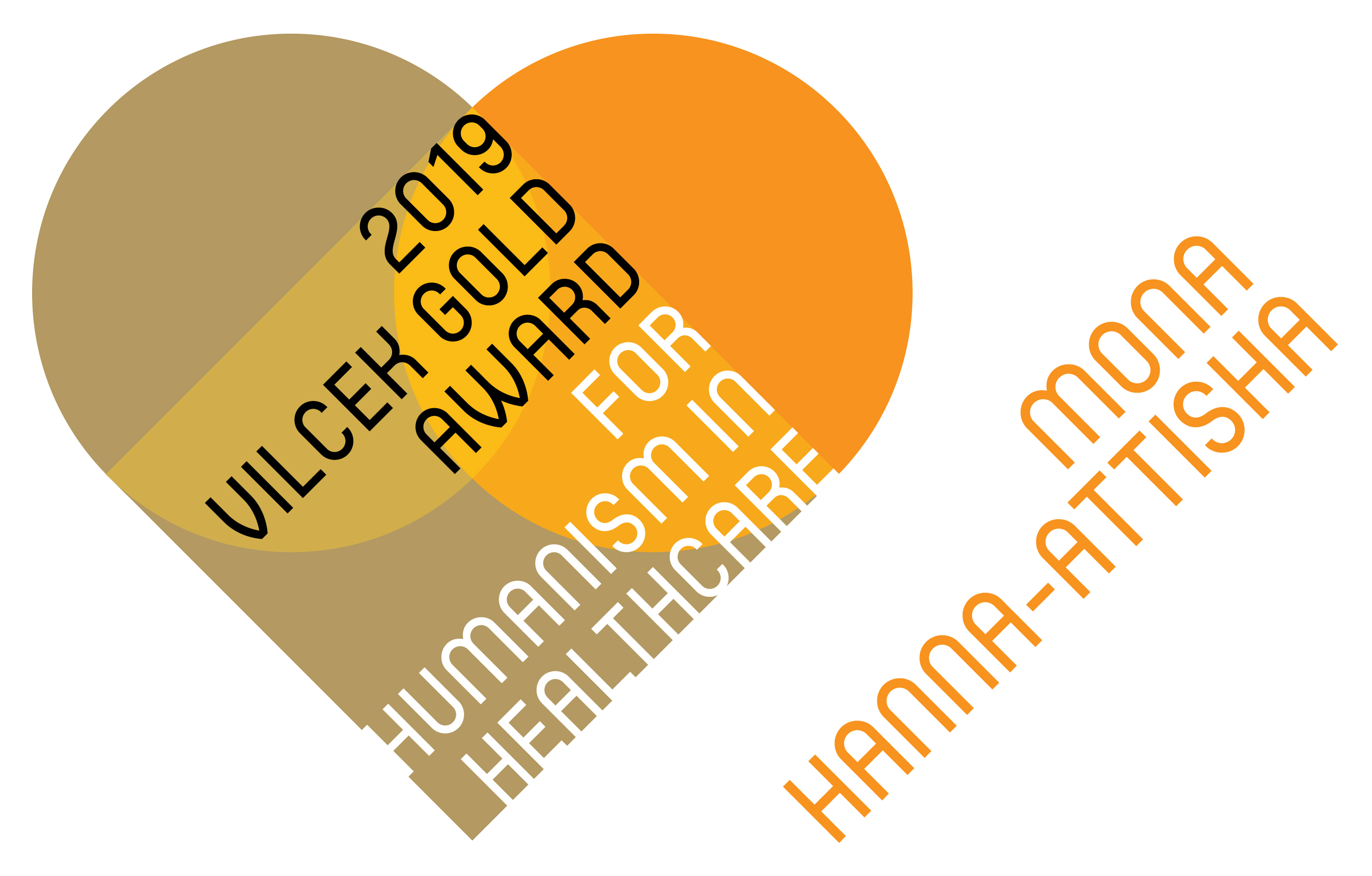 A graphic representation of the 2019 Vilcek-Gold Award for Humanism in Healthcare.