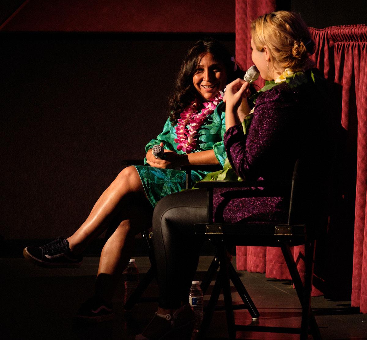 Haifaa Al Mansour with Beckie Stochetti, at the Hawai'i International Film Festival.