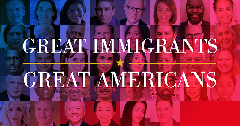 Great Immigrants, Great Americans Header