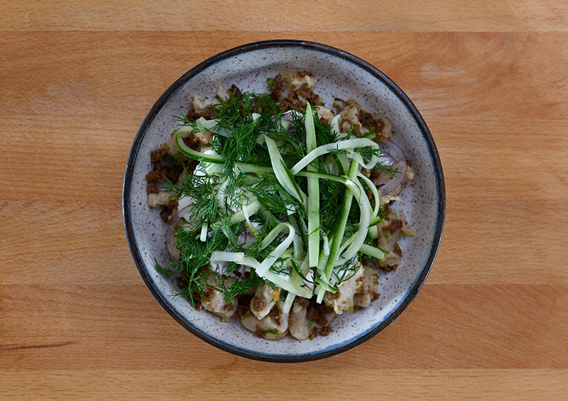 Chef Kate Telfeyan's Hand-Torn Noodles with Cumin Lamb