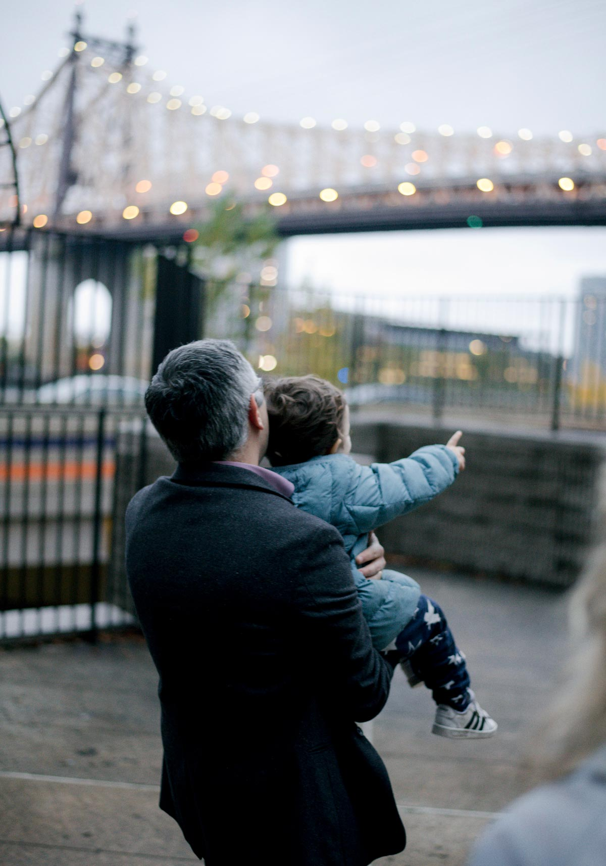 Kivanc Birsoy and his son in a Manhattan playground.