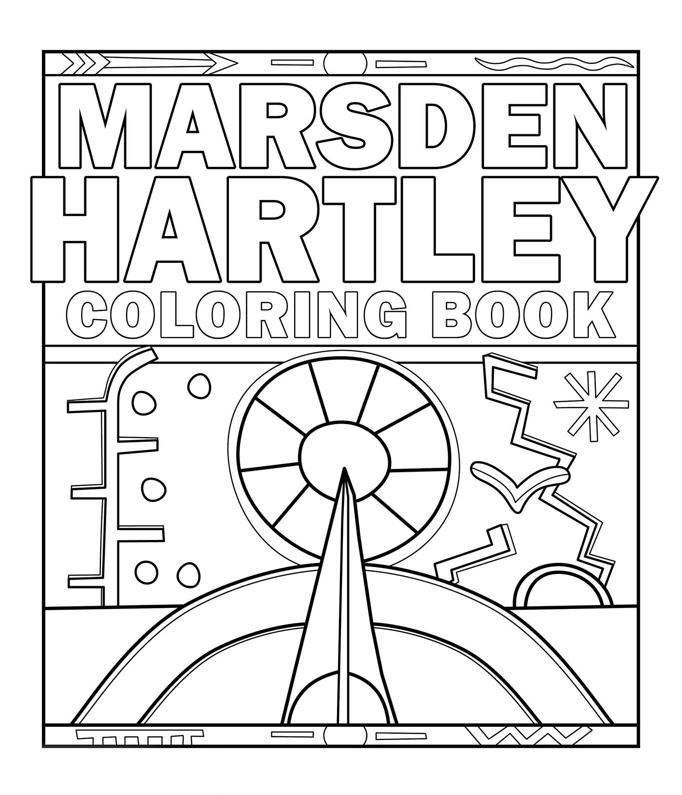 Marsden Hartley Coloring Book