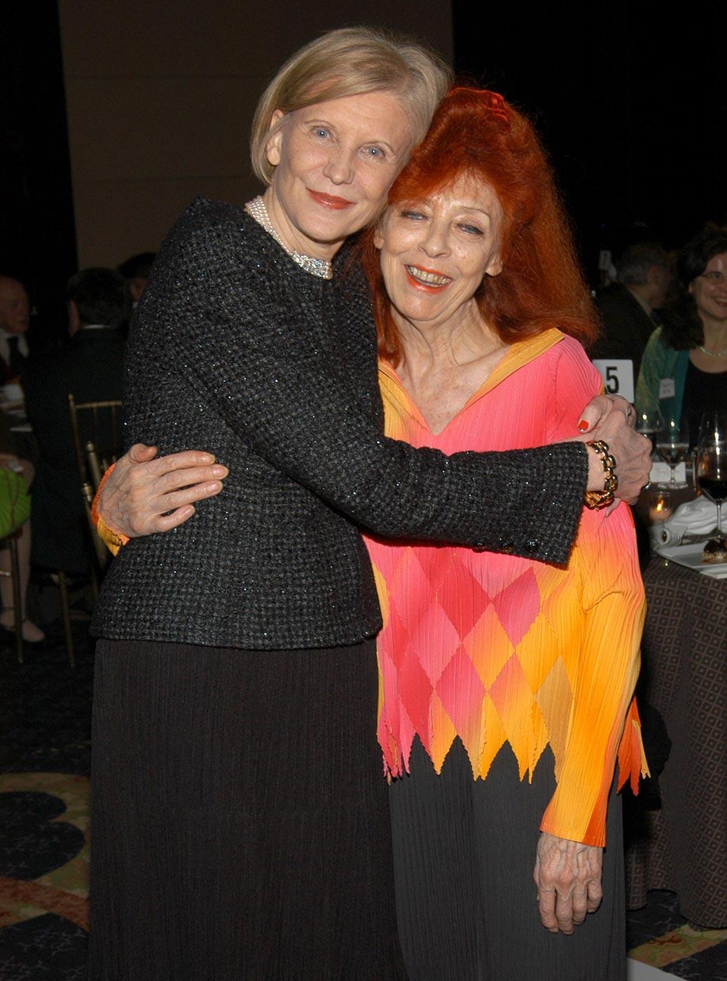 Marica Vilcek and Jeanne-Claude in an awards gala ballroom.