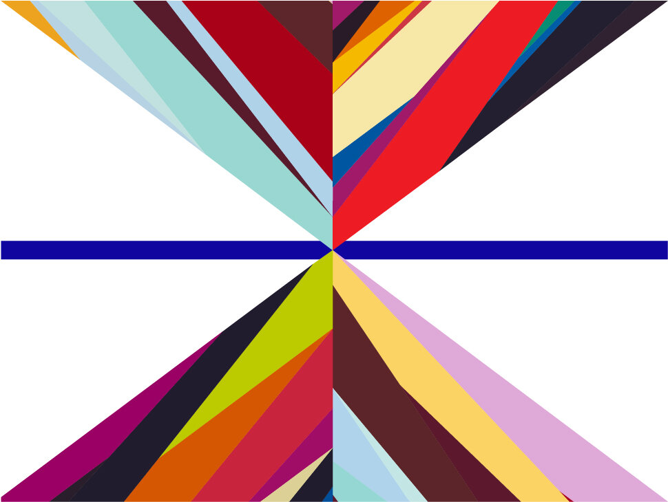 Odili Donald Odita, Digital design for Laumeier flag, 2020. © Odili Donald Odita. Courtesy of the artist and Jack Shainman Gallery, New York.