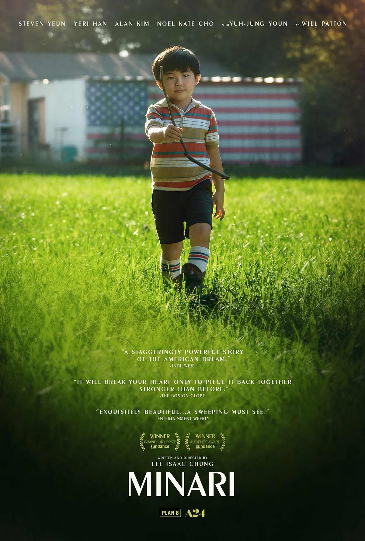 Movie poster for the film Minari starring Steven Yeun