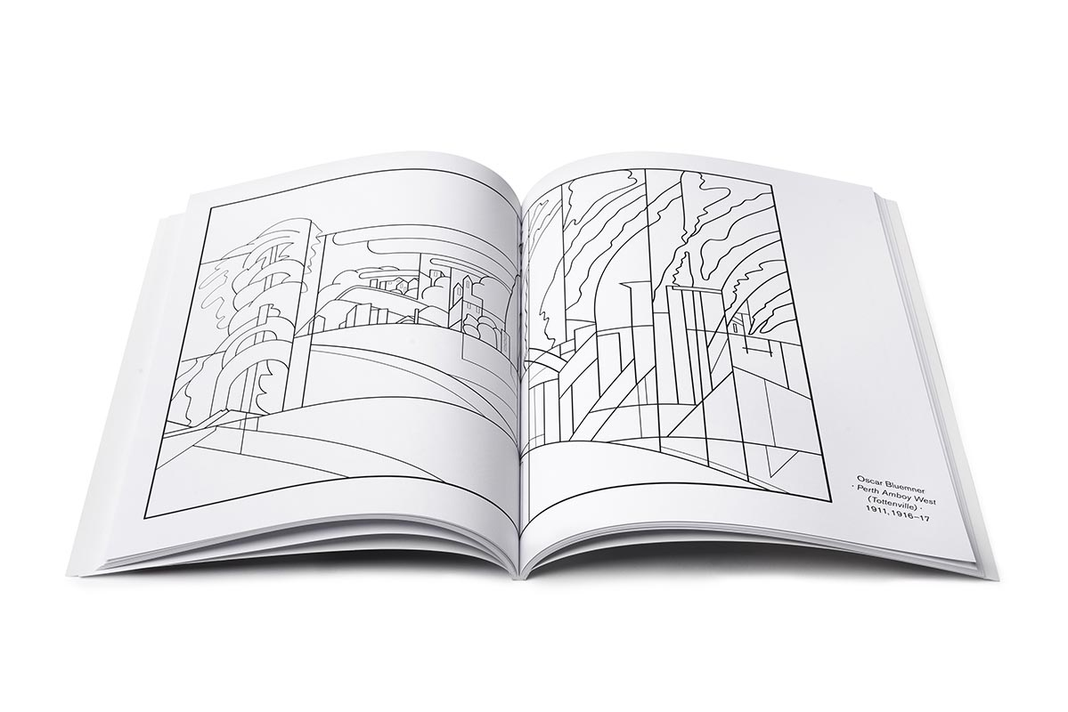 Interior view of he Coloring Book of American Modernist Artists