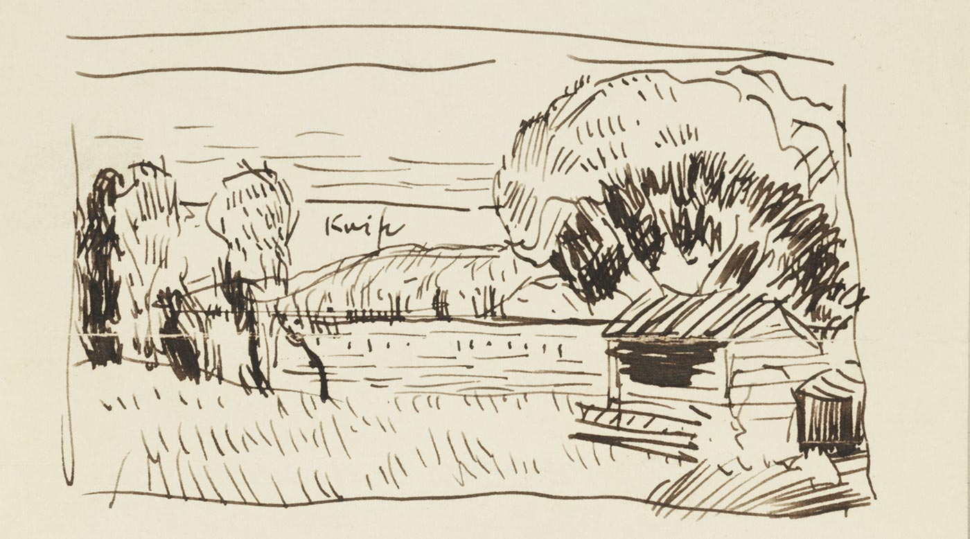 An Oscar Bluemner sketch of Perth Amboy West (Tottenville)