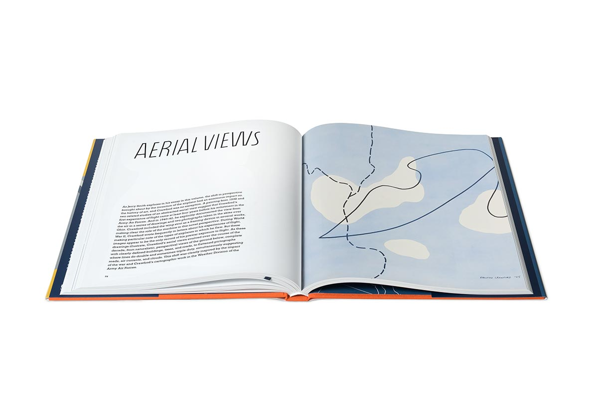 Interior view of the book Ralston Crawford: Air + Space + War