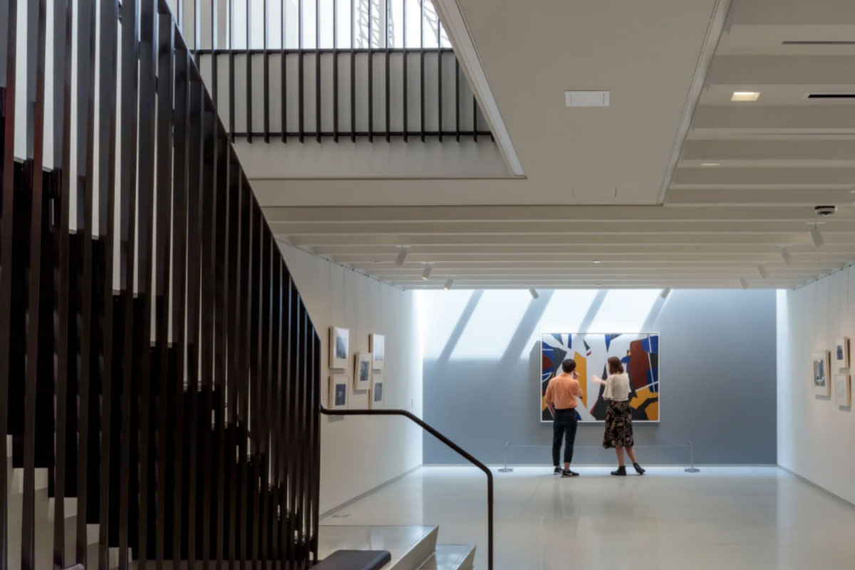 The first floor gallery space within the Vilcek Foundation NYC headquarters.
