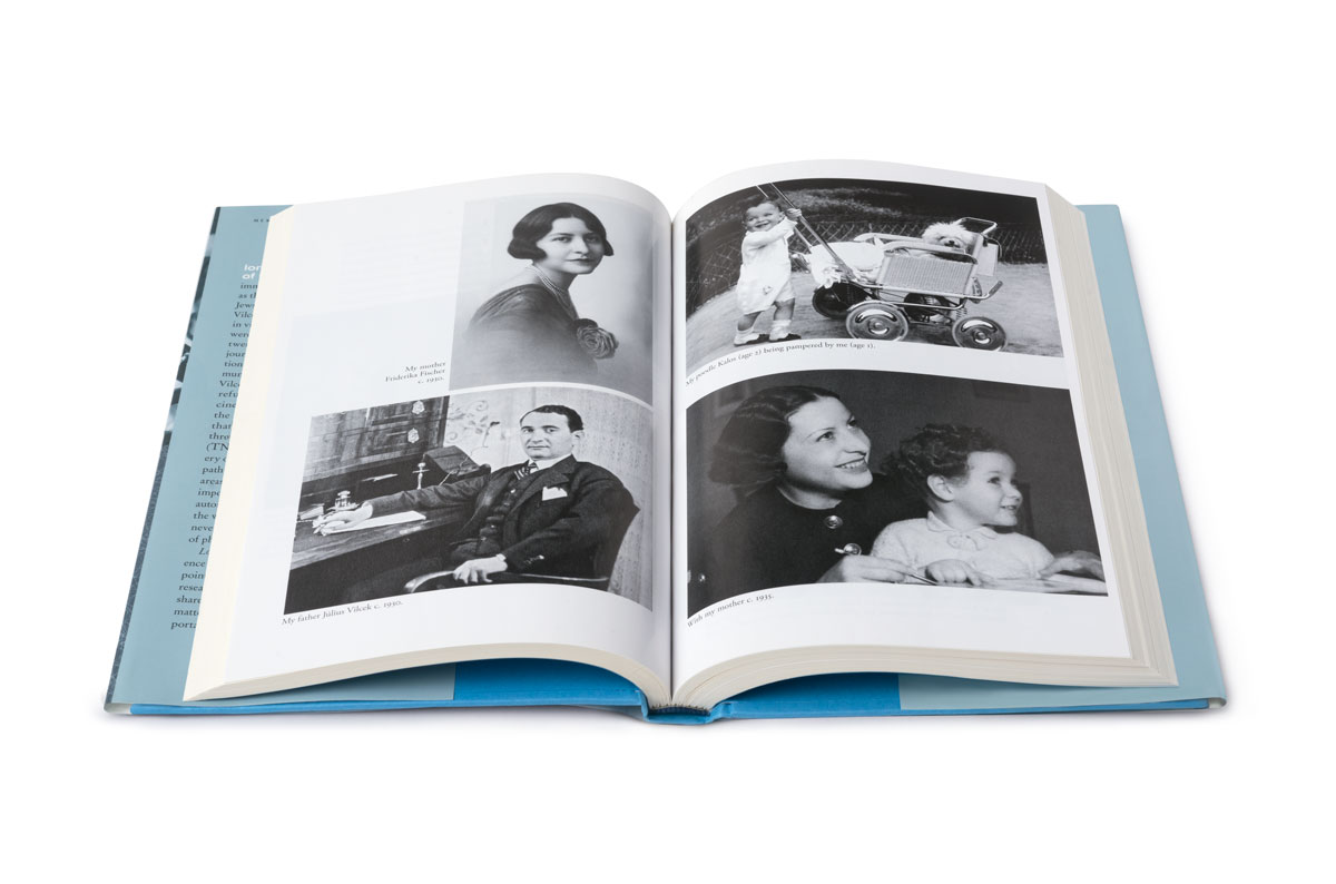 Interior view of Love & Science: pages with photos
