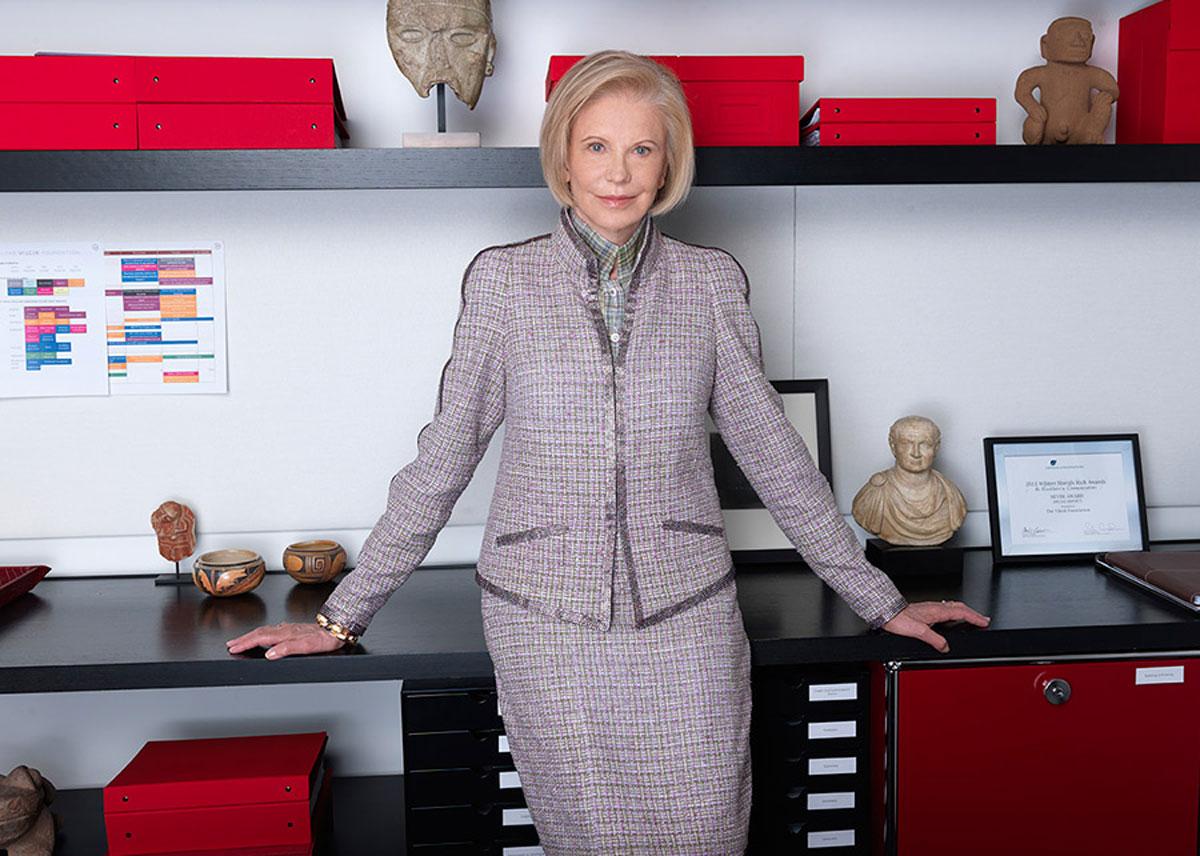 Marica Vilcek in her office.