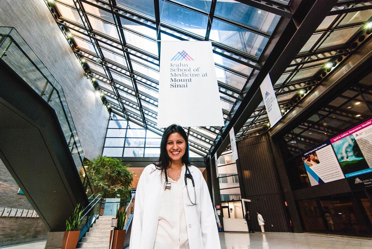Denisse Rojas Marquez at Mount Sinai Medical School.