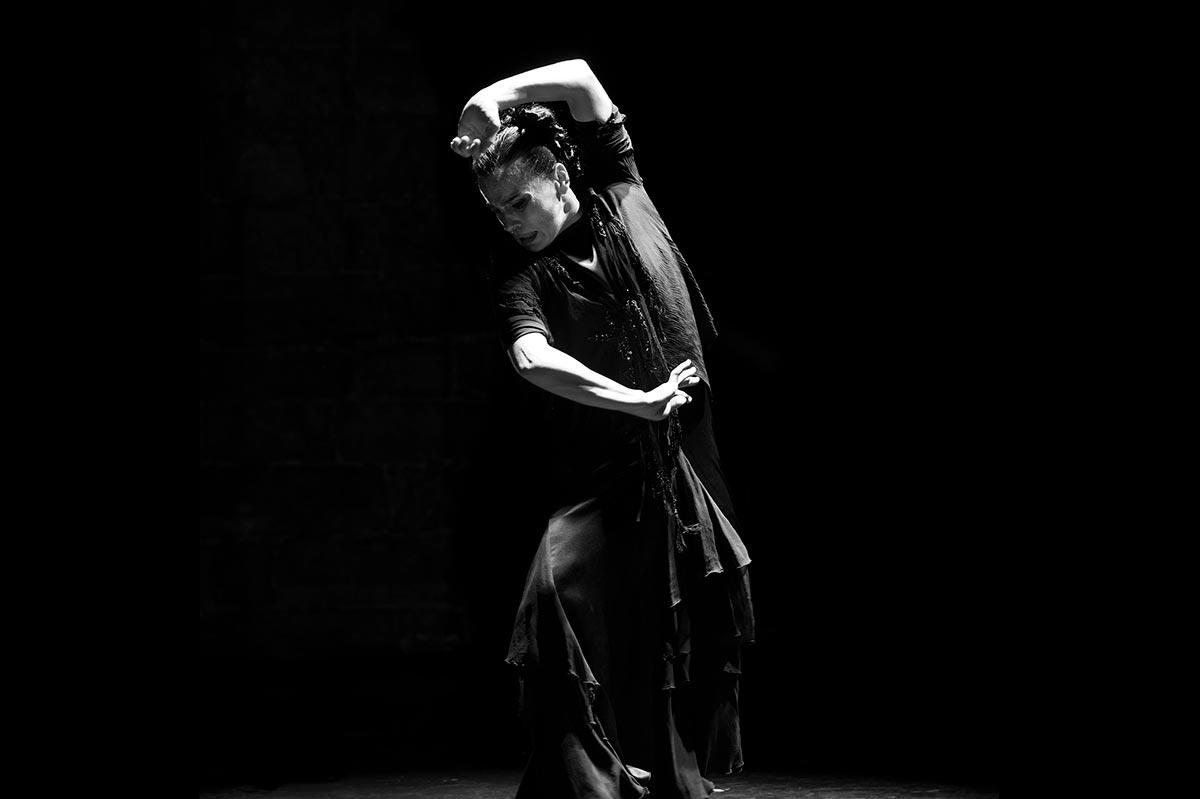 Soledad Barrio dancing flameno at Montreal Dance.