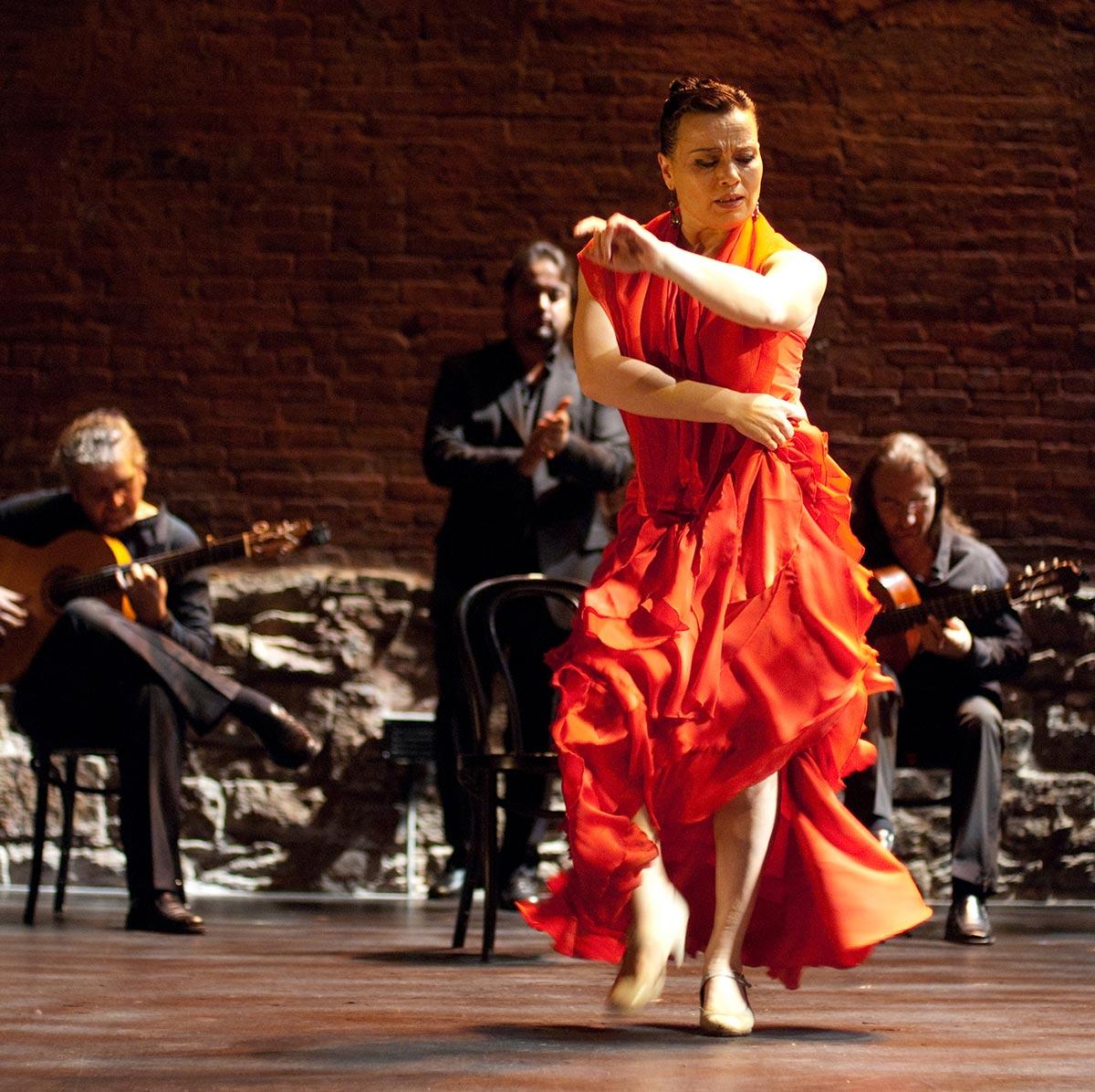 Soledad Barrio performing at Cherry Lane Theatre in New York City.