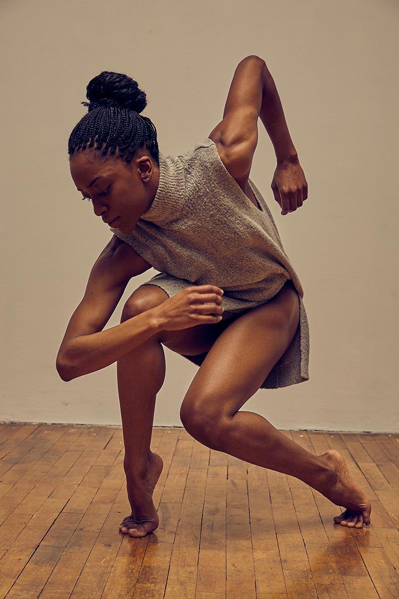 Tamisha Guy, in a dance studio, performing