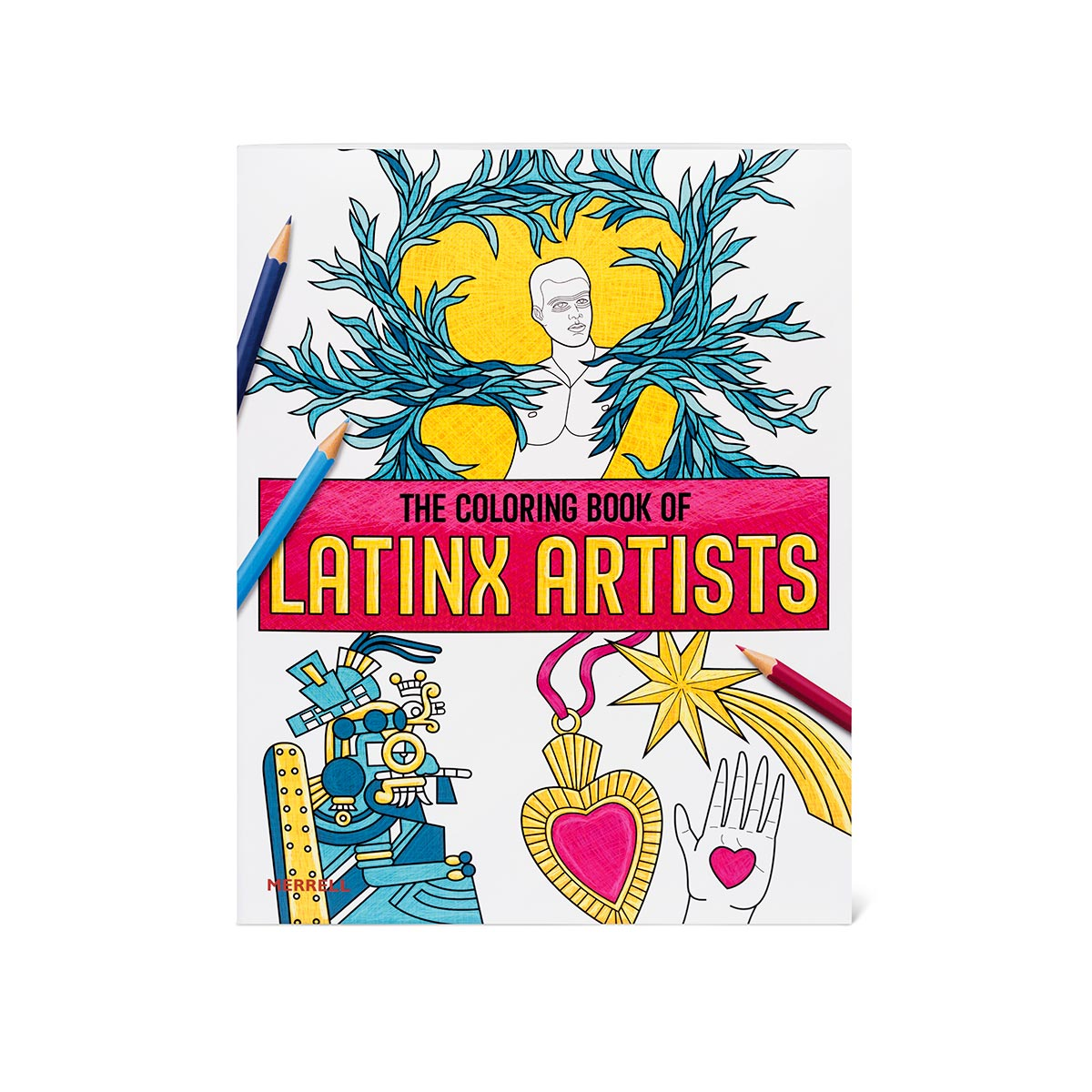 The cover of The Coloring Book of Latinx Artists