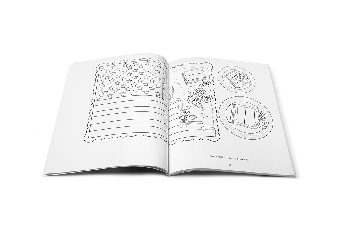 A page from the Coloring Book of Latinx Artists